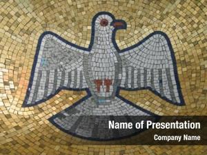 Bird holy spirit gold background