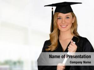 Woman young successful graduating college