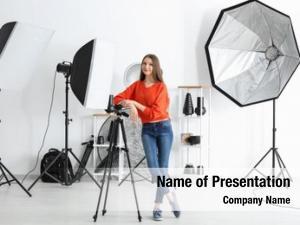 Photographer young female studio