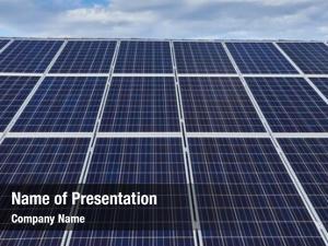 Big solar panels array
