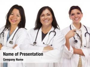 Female three hispanic doctors nurses