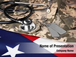 Token stethoscope army american flag