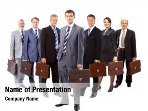 Formed business team young business
