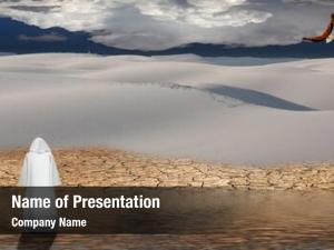 Walks holy man water desert