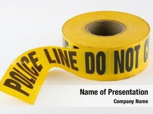 Tape police line