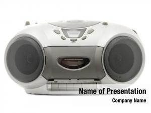 Disc cassette compact player white