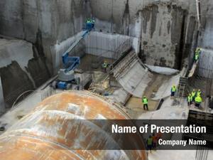 Machine tunnel boring construction site