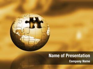 Globe golden jigsaw abstract blur
