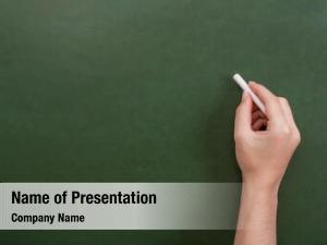 Close up of a teacher powerpoint template