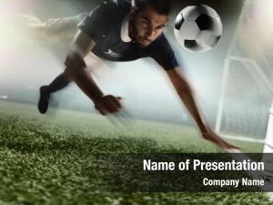 Heading soccer player soccer ball
