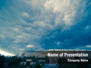 Dark dramatic stormy cloudy sky