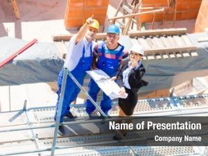Team construction site architect builder