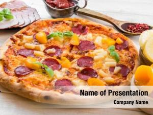 Pineapple exotic pizza peach food