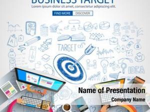 Concept business targe doodle design