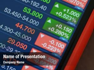 Data stock market cellphone