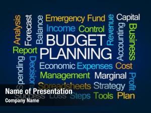 Word budget planning cloud blue