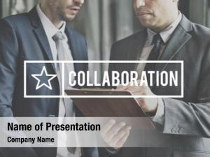 White collar worker collaboration trusted partnership