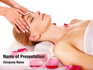 Facial woman getting massage beauty