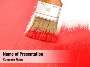 Painting brush red painting white