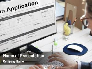 Mortgage loan application money concept