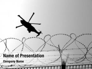Helicopter barbwire military mission war