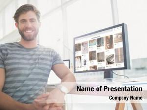 Businessman portrait casual posing smiling