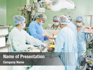Cardiac surgeons team surgery operation