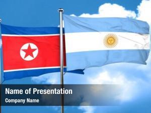 Flag north korea argentine flag,
