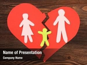 Silhouette paper cutout family split