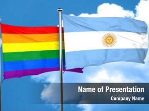Flag gay pride argentine flag,