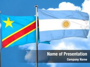 Congo democratic republic flag argentine