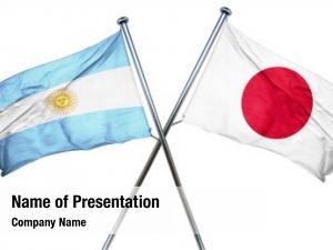 Combined argentina flag japan flag