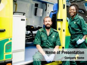 Ambulance paramedics team