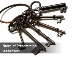 Old set antique, fashioned keys