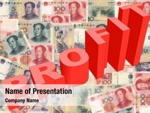 Graph profit text chinese yuan