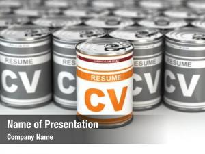 Resume can, conceptual