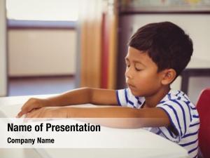 Memorizing school boy lesson classroom
