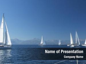 Regatta boats sailing