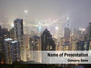 Central hong kong district skyline