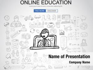 Concept online education business doodle