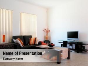 Room modern lounge orange brown