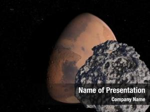 Infront rendered asteroid mars