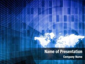 Data security network world background