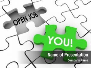 Words open job puzzle piece