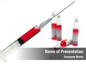 Needle syringe injection red injection