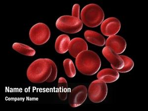 Red rendered human blood cells