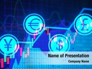 Graphs stock exchange currency symbols