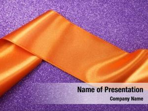 Orange violet art ribbon