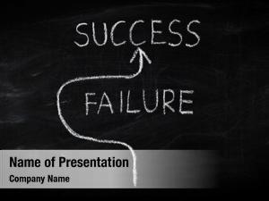 Success concept on blackboard