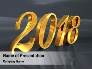 Celebration gold 2018 number, golden